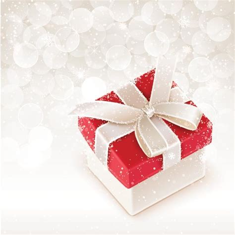 vector merry christmas gift box  elegant background  vector  encapsulated