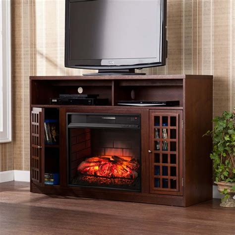 infrared fireplace tv stand southern enterprises narita infrared electric fireplace tv
