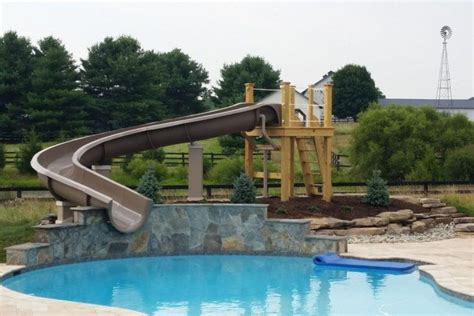 backyard pool water slides 20 backyard swimming pool ideas with water slides
