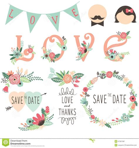 love wedding design elements vector wedding elements vector illustration cartoondealer com