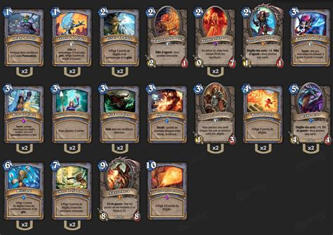 mage deck hearthstone deck mage l 233 gendaire hearthstone heroes of warcraft