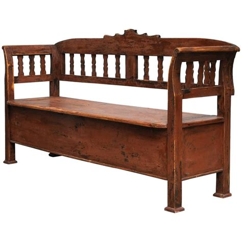 antique storage bench antique storage bench with original paint circa 1920 for