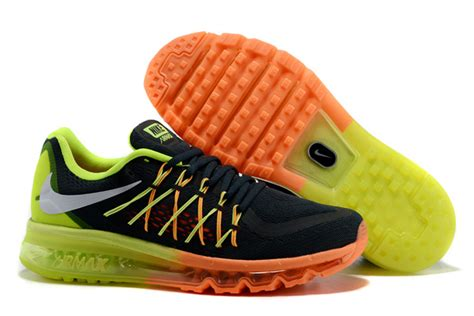 mens running shoes on sale nike air max 2015 mens black volt total orange running