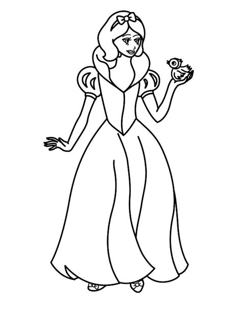 Printable Snow White Coloring Pages Coloring Me Princess Snow White Coloring Pages Free Coloring Sheets