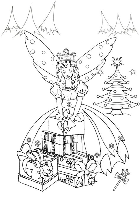 christmas fairy coloring page free coloring pages of rainbow magic fairy ruby