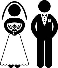 Bride and groom silhouette wall sticker wedding wall art decal