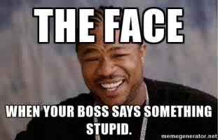Meme Boss - the face when your boss says something stupid yo dawg