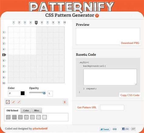 css pattern generator base64 patternify generador de patrones css