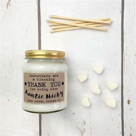 Candle Company Bless Your by Personalised Godmothers Are A Blessing Soy Candle By
