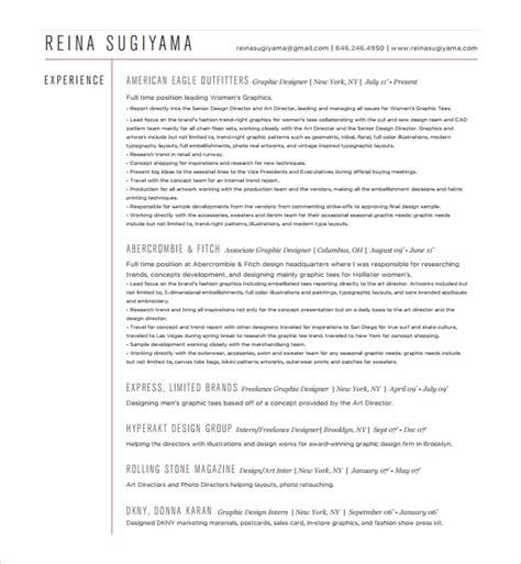 8 Fashion Cv Templates Sle Templates Squarespace Resume Template