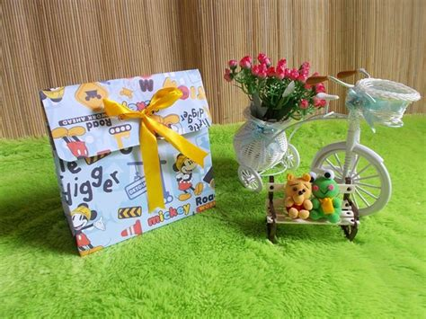 Bungkus Kado Gift Wrap Hanya Untuk Produk Toko Tokopediacomaxhl kemasan kado bungkus kado gift bag pita mickey mouse biru