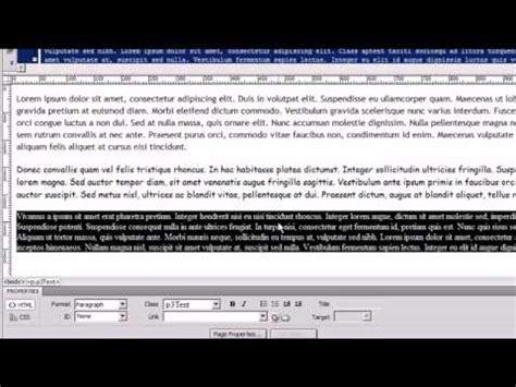 tutorial css en dreamweaver dreamweaver cs4 tutorial 10 css styling youtube