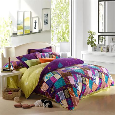 purple and yellow bedding purple teal and pink yellow bohemian chic tribal style