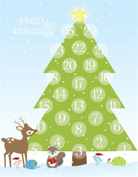 printable advent calendar worldlabel blog