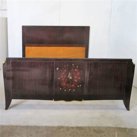 deco bed deco bed attributed to jules leleu in rosewood for sale at 1stdibs