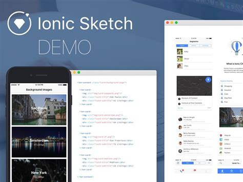 ionic tutorial demo mobile wireframe prototyping templates gui kits free