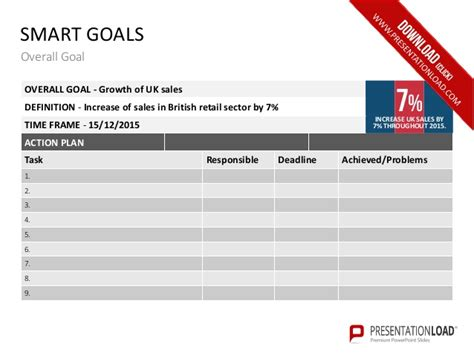 ppt templates for goal setting smart goals powerpoint templates