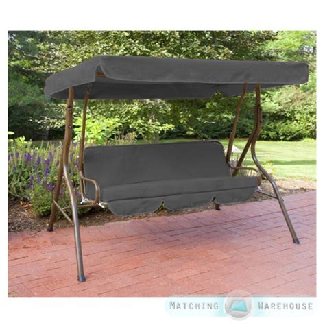 outdoor swing awning replacement replacement 3 seater swing seat canopy cover and cushions