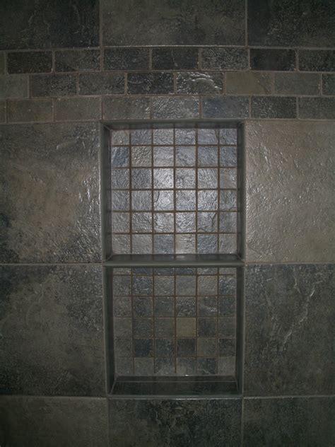 Kerdi Shower Niche by Kerdi Porcelain Slate Tile Bathroom In Fort Collins