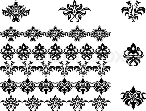 patterns black and white border floral pattern black and white border