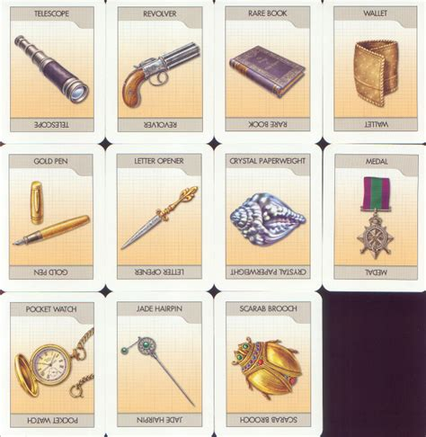 clue cards weapon template printable clue board cards uma printable