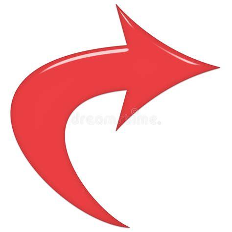 clipart freccia freccia di vetro rossa illustrazione di stock immagine di