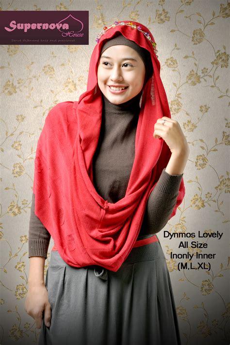 Gamis Rajut Zahra dynmous lovely merah baju muslim gamis modern