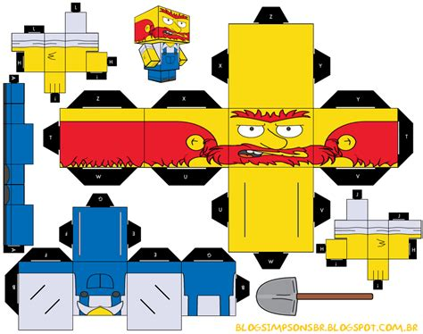 papercraft simpsons papercraft toys arte de papel