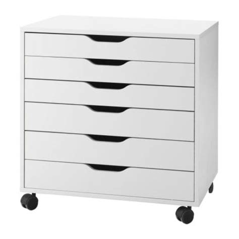 drawers on wheels ikea alex drawer unit on casters white ikea