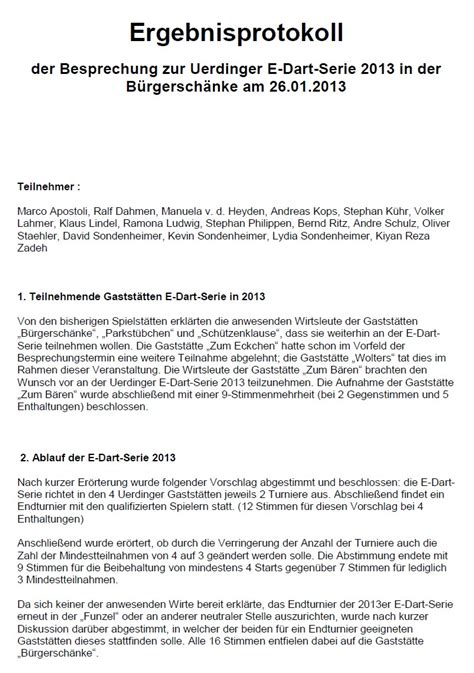 protokoll bei wohnungsübergabe protokoll besprechungsabend e dart serie 2013 offene