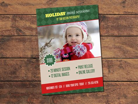 Marketing Materials Mini Session Cards Holiday Mini Session Card Photographypla Net Mini Session Templates For Lightroom