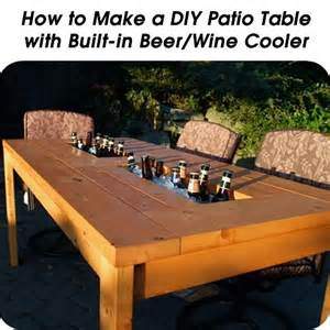 diy patio table  built  beerwine