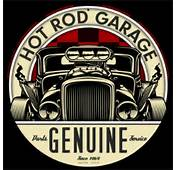 Genuine Hot Rod LETH112  Vintage Tin Sign Round Cool