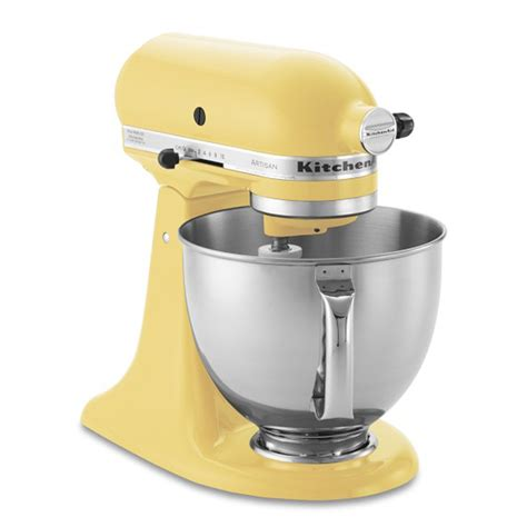 kitchen aid yellow kitchenaid artisan stand mixer