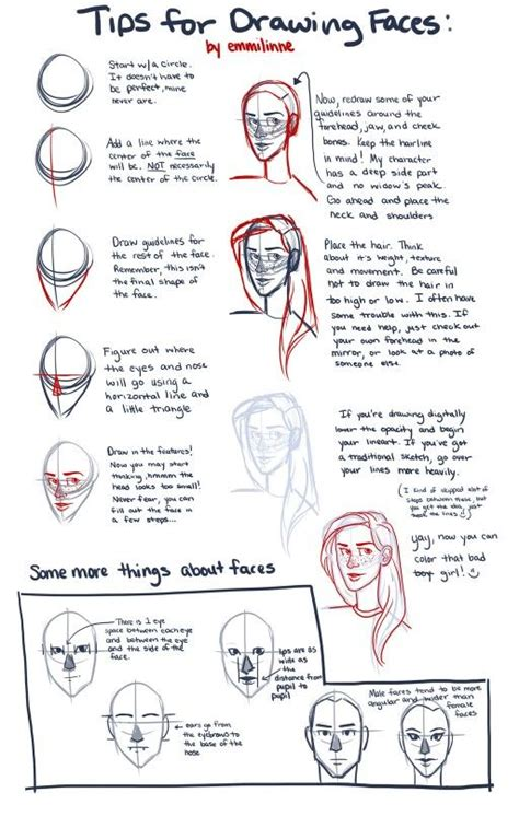 Drawing Tips by Tips For Semi Realistic Faces Tutorials