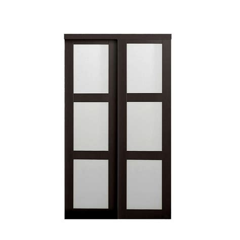 interior glass doors home depot truporte 30 in x 80 50 in 3080 series 3 lite tempered