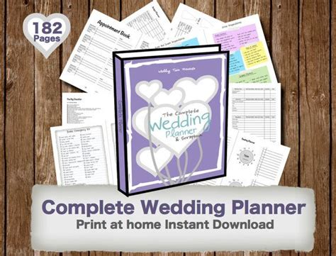 printable wedding planner book 109 best complete wedding planner scrapbook images on