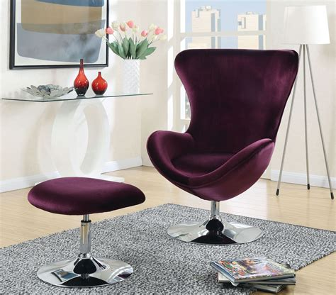 purple chair and ottoman eloise purple accent chair with ottoman from furniture of
