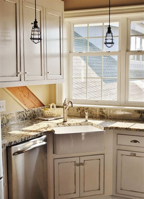 corner kitchen sink design ideas  inspirations