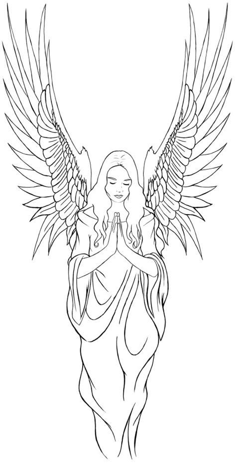 angel tattoo by whezzan on deviantart