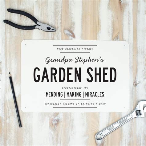 Personalised Signs For Sheds by Personalised Metal Shed Sign By Delightful Living