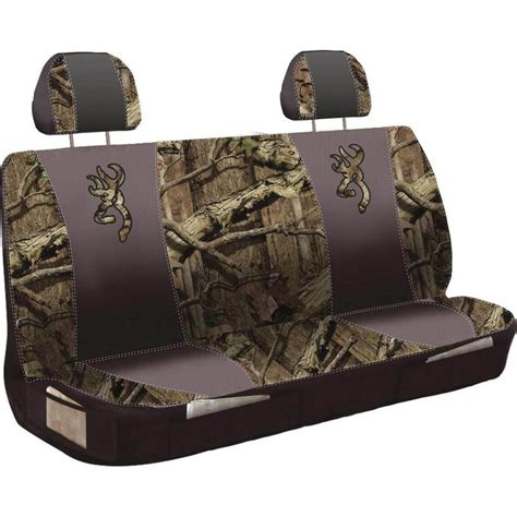 browning bench seat covers browning bench style universal seat cover mossy oak infinity