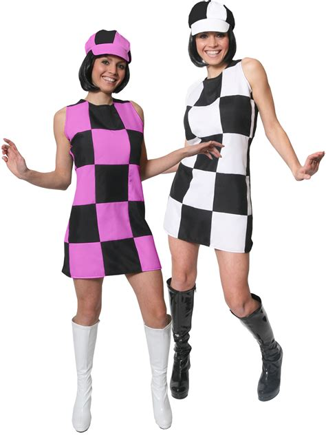 swinging 60s fancy dress ladies 1960s party girl costume adults swinging 60s 70s