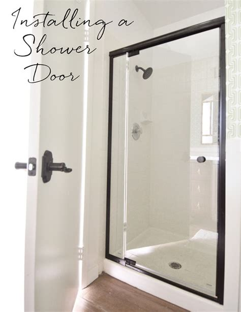 How To Install A Shower Door Install Shower Door How To Install A Glass Shower Door Diy Projects How To Install Neo Angle