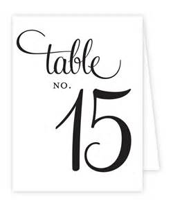 table number templates reception table numbers printable tent style