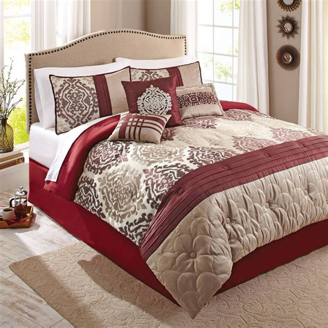 red bedspreads and comforters better homes and gardens 5 piece bedding comforter set
