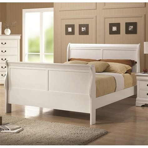 bed white wood coaster 204691f white size wood bed a sofa furniture outlet los angeles ca