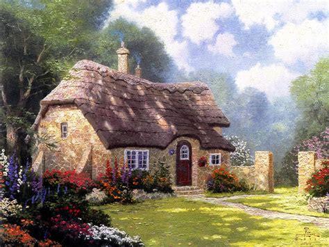 the cottage painting simbolog 205 as kinkade