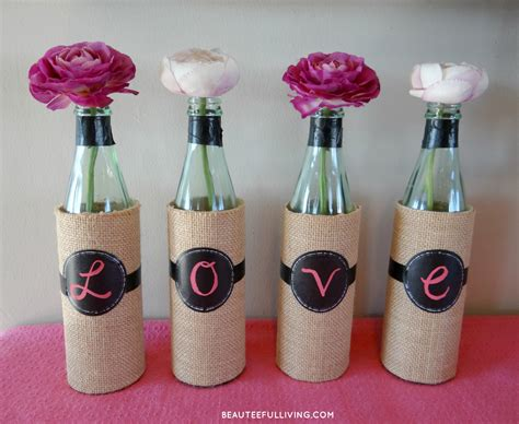 Wine Vase by Diy Wine Bottle Vases Beauteeful Living