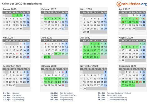 kalender  ferien brandenburg feiertage
